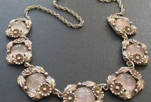 NE From Designer Necklace / Beautiful rose quartz and sterling silver necklace by NE From.  More photos at www.modernvintagestyle.co.uk