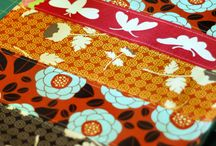 HANDMADE... placemats / ...with fabric and love the pleasure of sitting down to a meal at a pretty table