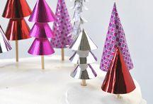 Decoration bûche de Noël