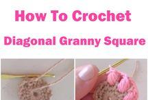 Squares diagonal granny