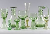 Green glass - Lesní sklo - Forest glass / Hand-made replicas of historic glass in the Glass Factory Jakub are made according to the ways of glass processing in medieval times.