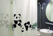 パンダ シャワーカーテン