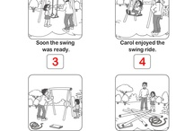 SLP: Language - Sequencing / Ideas for improving ability to sequence events and tell stories using adequate transitions words. Check out my blog for more ideas, http://slpmsb.blogspot.com/, and TpT for products, https://www.teacherspayteachers.com/Store/Ms-B-Slp