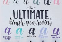 Hand Lettering, Calligraphy & Typography