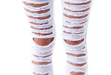 Ladies Fashion Ripped Jeans
