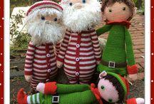 elfenkind en kerstbaas in pyama (de Gretige Haakster)
