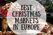 Christmas markets and lights in Europe