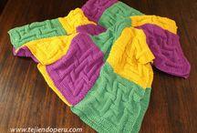 pletené přikrývky