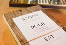Wood menus / by Eugenia Ruibal Luken