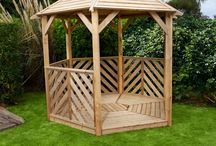Wooden Garden Gazebos / Wooden garden gazebos and outside rooms