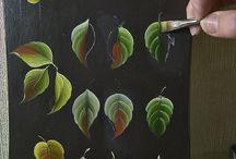 hojas bellas