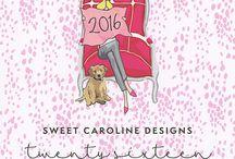 2016 Sweet Caroline Designs Calendar / http://sweetcarolinedesigns.com/shop/2016-desk-calendar/