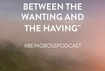Creative Entrepreneur Quotes / Inspirational and motivational quotes for creative entrepreneurs & small business owners from the Being Boss Podcast