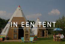 In een tent / Slapen in een originele tent.