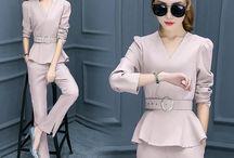 Ladies elegant pant suites