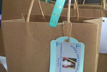 """Goodie bag ideas / I was asked to provide the goodie bags for my stepson's 21st birthday party.  These bags were filled with """"90s candy:"""" things like Nerds, Ring Pops, Pop Rocks, etc. that remind us of the decade"""