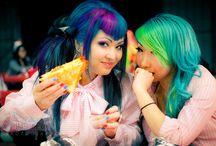 Rainbow Brite / various unusual hair colors / by Ali Smith