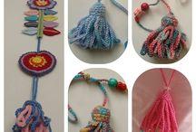 Crochet Buttons-Cords-Fringes-Tassels