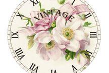 Часы.Циферблаты для декупажа