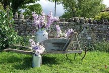 Wheelbarrows / Rustic Rentals Inspiration using our hire props