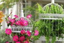 gaiolas para decoração flores
