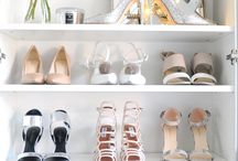 organize shoes in closet