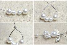 Orecchini con perle tonde