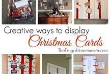 Christmas card displays
