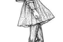 Arctalan lányos rajzok