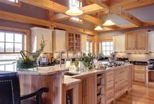 Timberframe homes / Ideas for timberframe home architecture and interiors  / by Kathy Titley