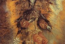 Remedios Varo 1908 - 1963 / a Spanish-Mexican para-surrealist painter and anarchist.