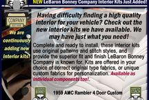 New Interior Kits Just Added - LeBaron Bonney Company / Having difficulty finding a high quality interior for your vehicle? Check out the new interior kits we have available. We may have just what you need! - LeBaron Bonney Company
