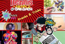 Dennis the Menace Pranks for Kids / Tricks and pranks for kids to play on their friends and for Parents to play on their kids.  All safe and harmless, good family fun