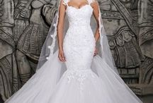 2014 Designers White Lace And See Through Mermaid Wedding Dresses