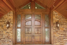 Doors & Gates / DeMejico / Our customers appreciate the beauty and tremendous hand crafted doors of our Spanish style Door Collection. We are prepared to design and custom-create any style door, from entry to interior, to fit the architecture of your home. Our Door Collection features doors made from various wood types, decorated with hand forged wrought iron accents and panels. Contact Us if you have any questions. / by Demejico Inc