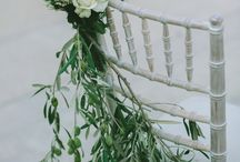 Wedding Aisle flowers, Chair backs and pew flowers