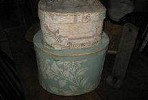 folk art paper boxes