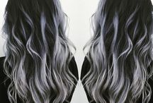 gray ombre hair silver