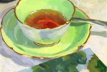 Paintings of teacups
