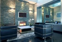 Commercial / Handcrafted, true custom and standard ventless fireplaces in high-end commercial projects.
