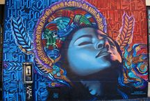 Marquis Lewis / A board devoted to the work of street artist Marquis Lewis.