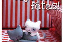 Polymer Clay Kittens / Curated by http://shelovescutenl.blogspot.nl/
