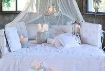 Intérieur style Shabby chic by Blanc-Mariclo / décoration et ameublement pour la maison