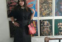 Polka Maxi Dress Styled 2 Way