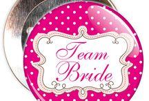 Team Bride Badges