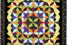 Kaleidoscope Puzzle Quilts / Quilts made using Maggie Ball's template-free Kaleidoscope method.