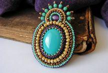 Ethnic, oriental, soutache, beads