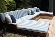 BUILT IN OUTDOOR DAYBED/COUCH