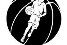 Basketball Designs - Female / Illustration, silhouettes, line art with a female basketball theme. #girl #basketball #woman