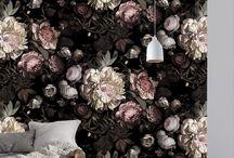 Dark Florals / Dark Floral textile and wallpaper patterns and inspiration.